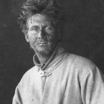 Silas Wright on return from polar plateau 1912. Ponting photo