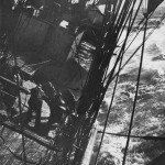 Terra Nova in Southern Ocean storm 1910. Ponting photo